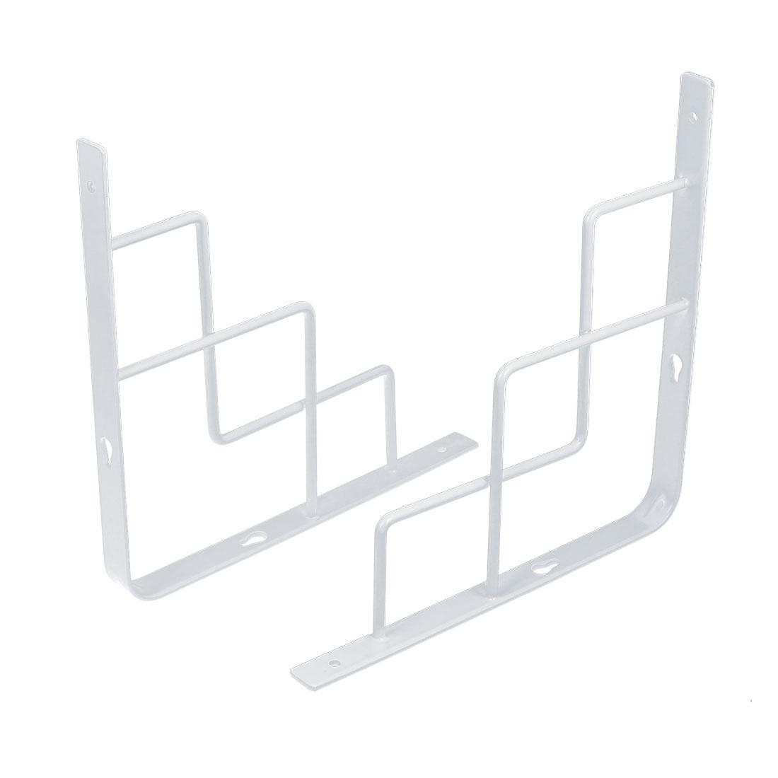 250mm x 250mm Stainless Steel 90 degree Wall Mounted Holder Shelf Bracket 2pcs