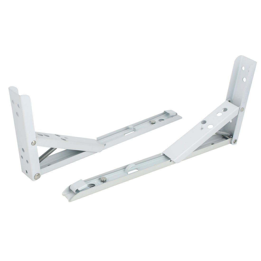 290mm x 132mm Folding Spring Wall Mounted Shelf Bracket Brace Support 2pcs