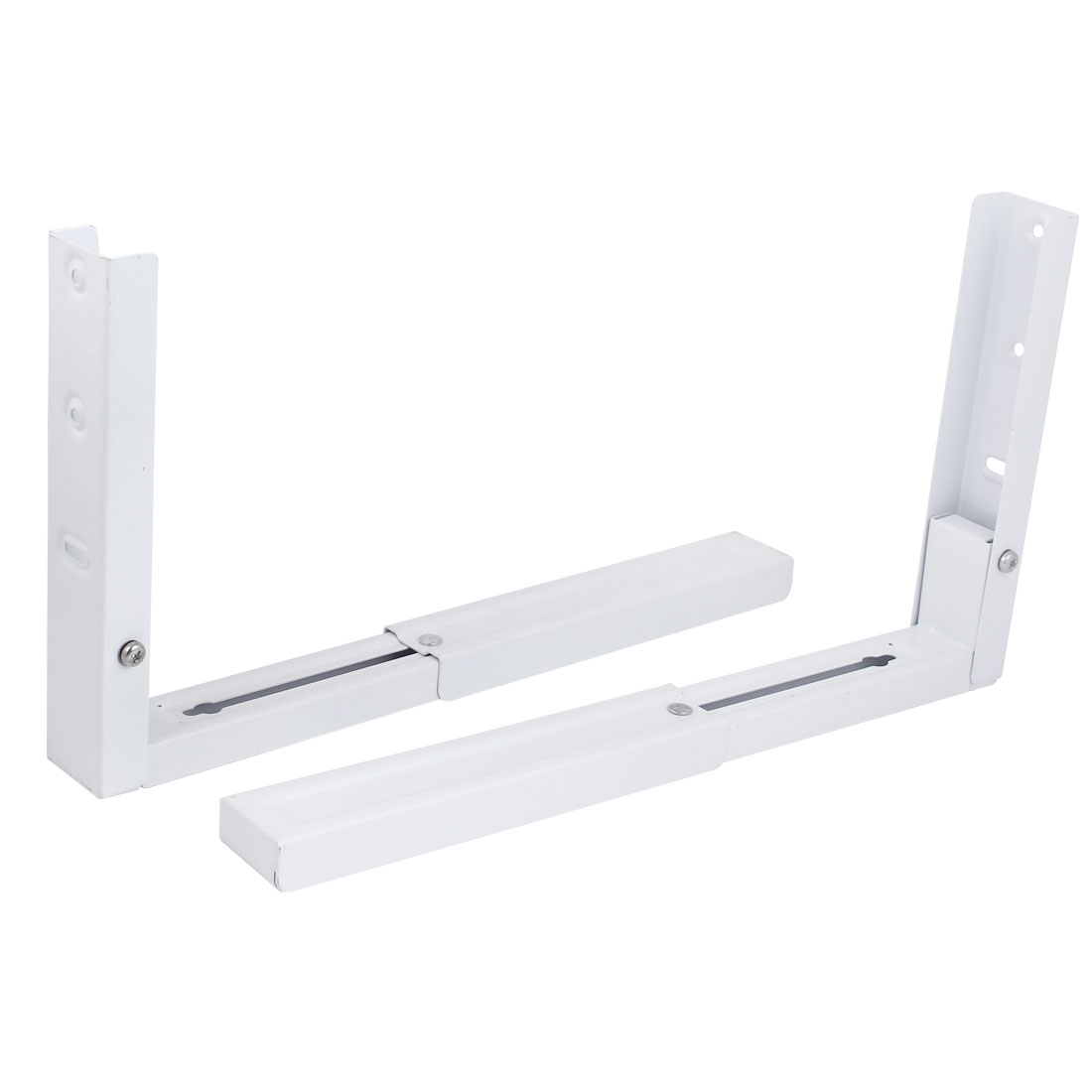 Microwave Oven Metal Shelf Foldable Stretch Rack Wall Mounted Bracket 2pcs