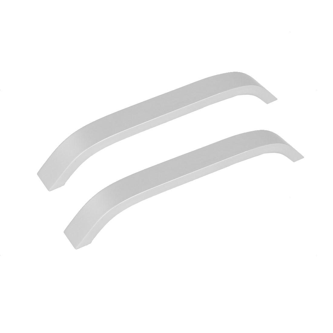 Home Cupboard Closet Aluminium Alloy Pull Handle Silver Tone 207mm Length 2pcs