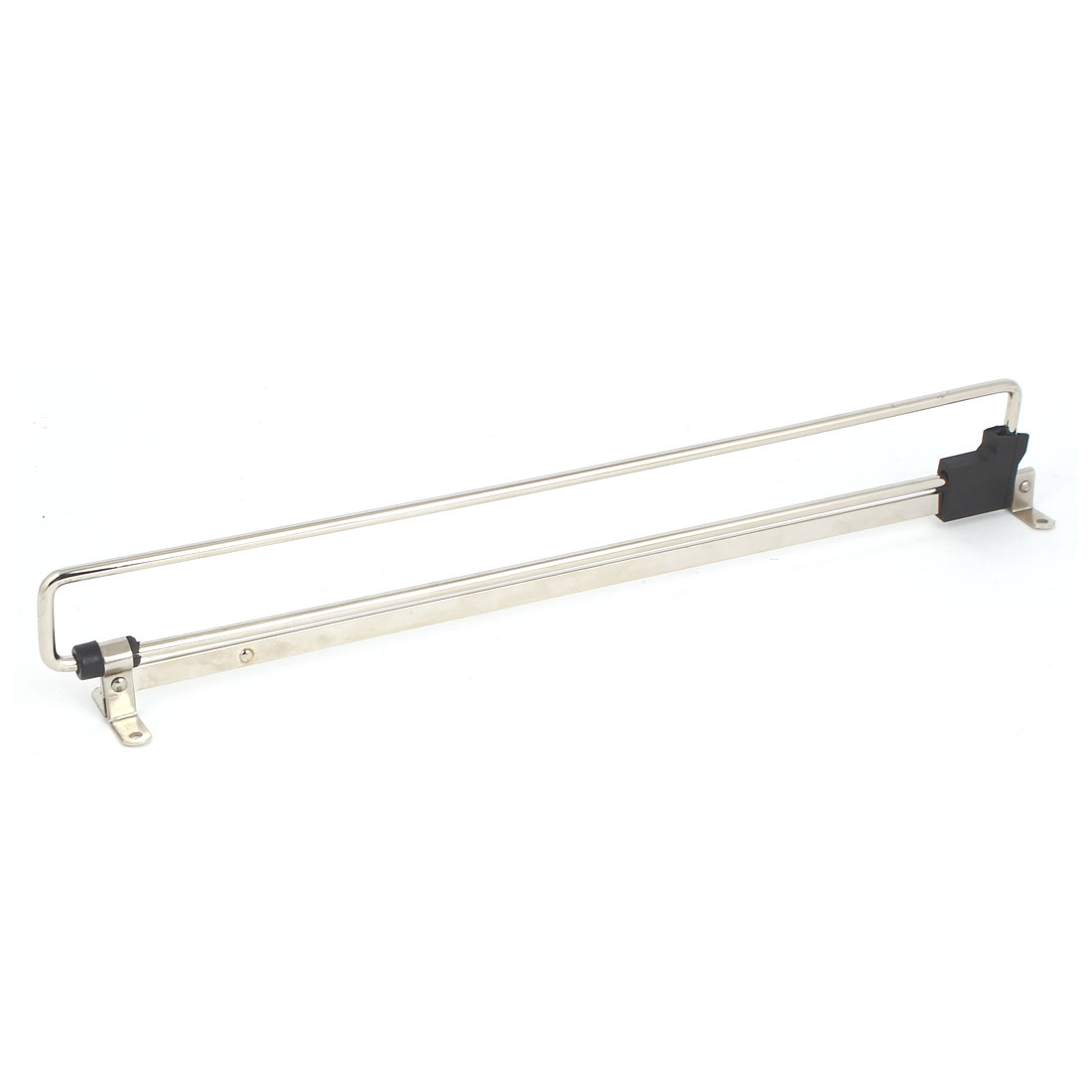 Wardrobe Closet Clothes Towel Metal Retractable Pull Out Rail Silver Tone 400mm Length
