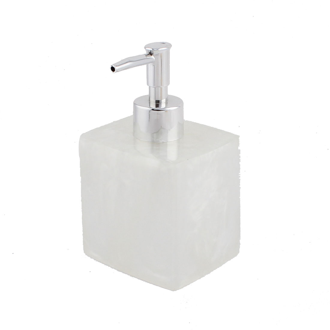 Bathroom Resin Shampoo Lotion Press Pump Bottle Dispenser Container Clear White 400ml