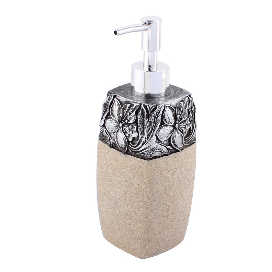 Bathroom Flower Prints Resin Retro Style Foaming Lotion Pump Bottle Dispenser 360ml