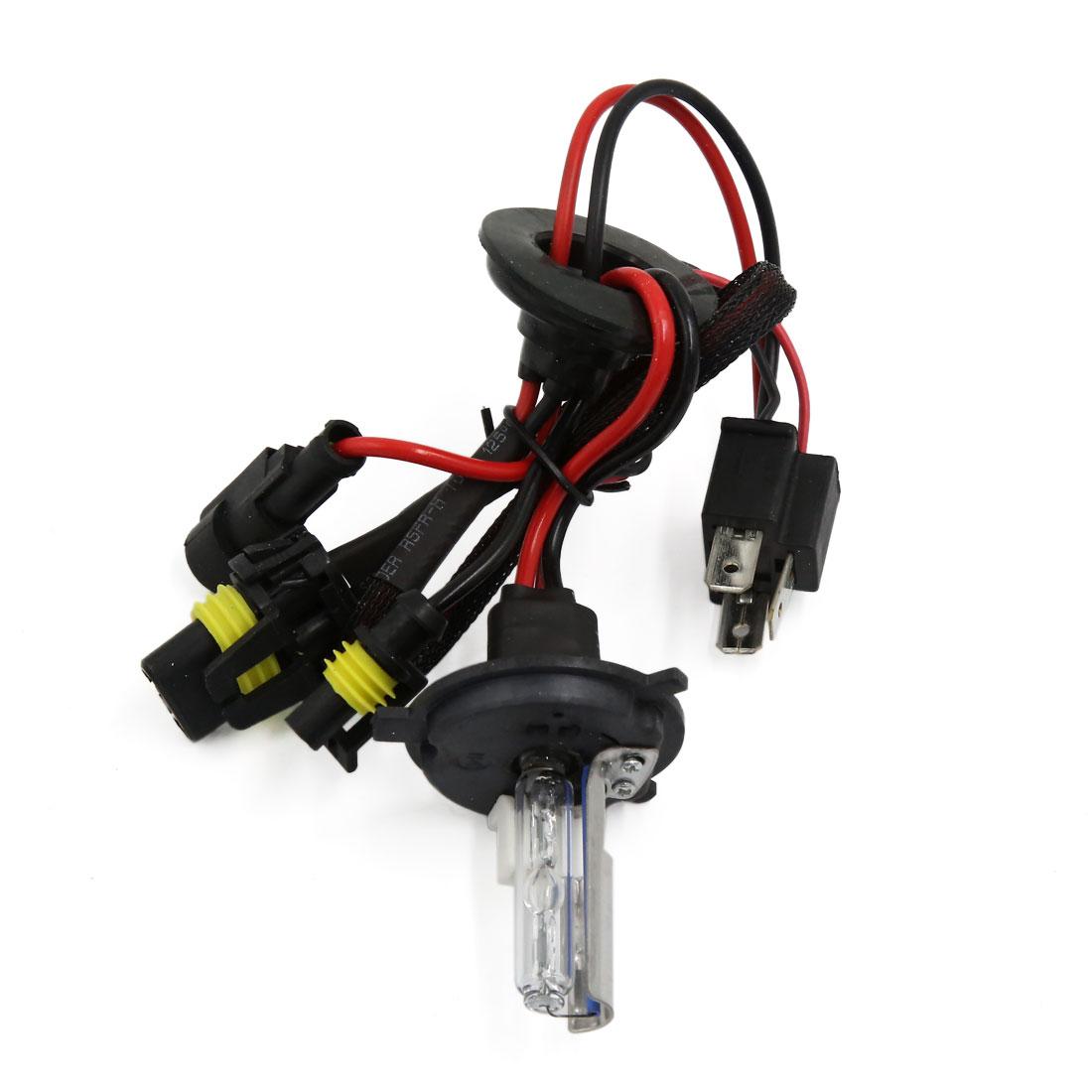 2pcs H4 Auto Car Xenon Light Hi-Lo Dual Beam HID Head Lamp Bulb DC 12V 8000K