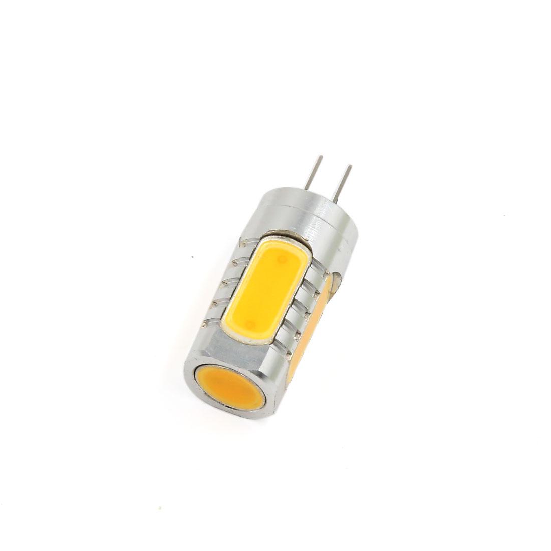 2 Pcs 7W G4 Warm White 5 COB LED Corn Lights Lamps Bulb DC 12V Interior