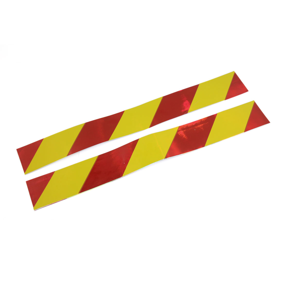 30pcs Yellow Red Reflective Safety Warning Conspicuity Tape Sticker 390mm x 50mm