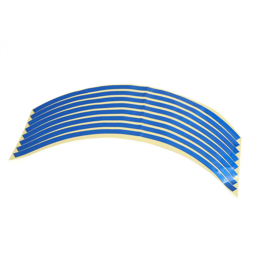 10pcs 32cm x 0.8cm Sticky Vinyl Decorative Sticker Decal Strip Blue for Car Auto
