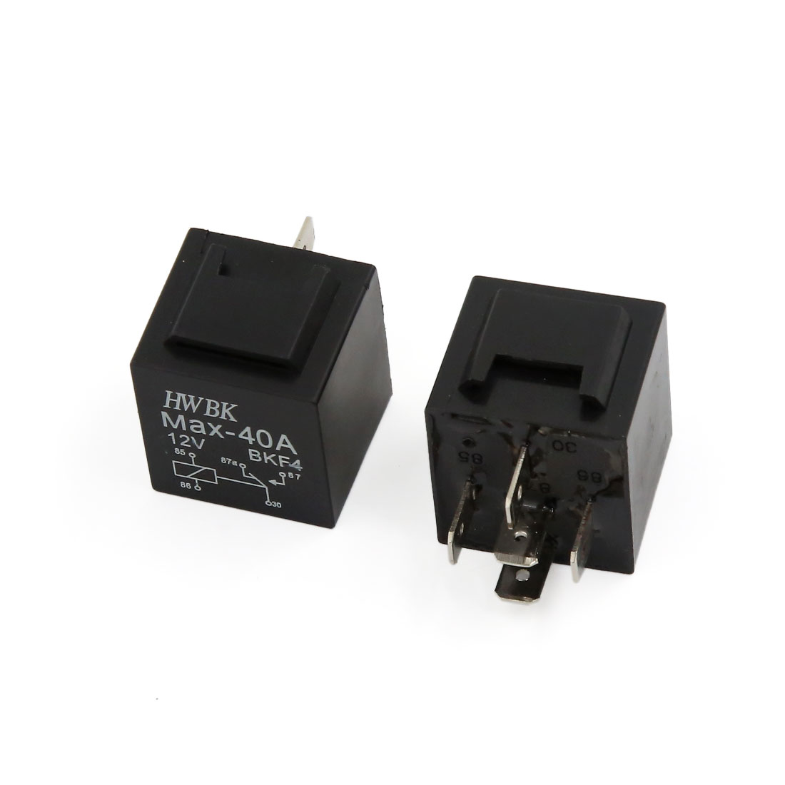 Car Truck Auto Automotive 5 Pin SPDT Relay Relays Socket DC 12V 40A 2pcs
