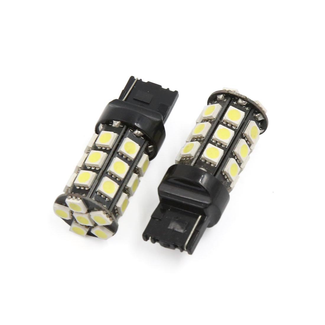 Pair T20 7440 5050-SMD White Reverse Brake LED Bulb Turn Signal Light Lamp 12V