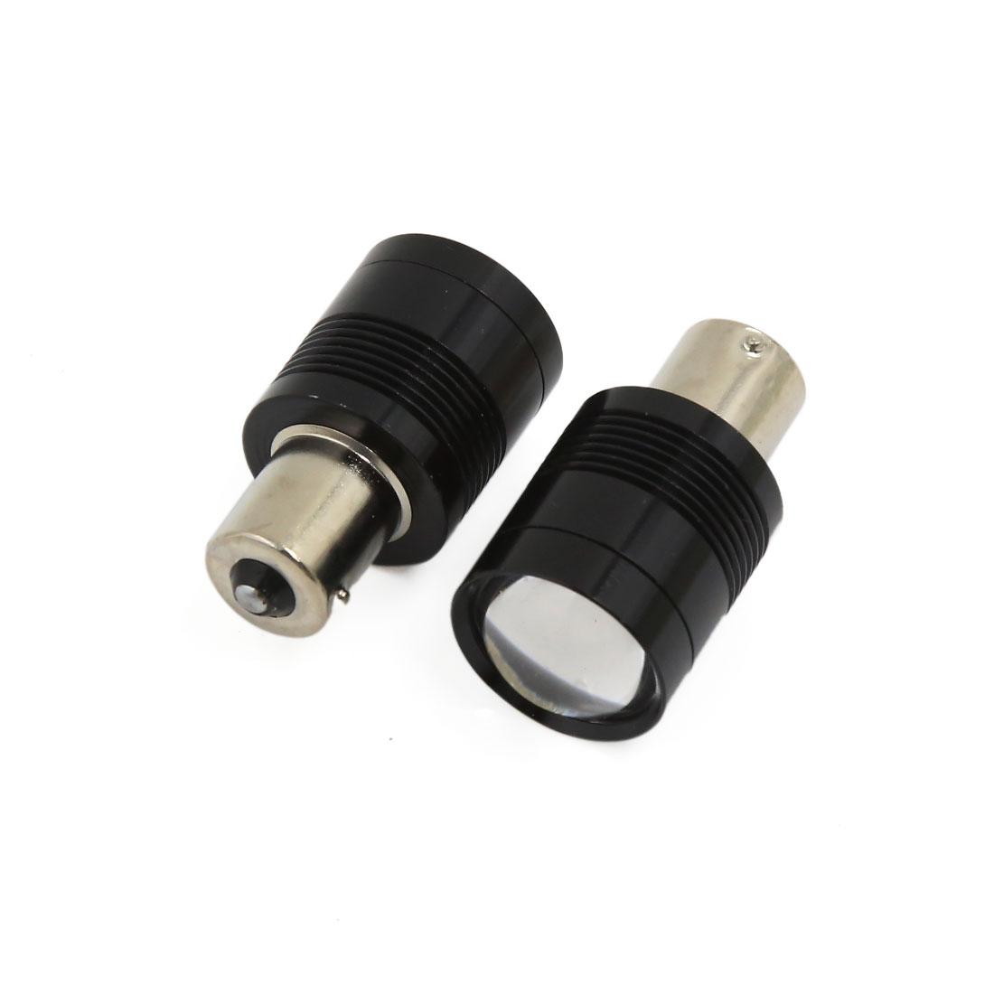 2 Pcs White 1156 BA15S COB LED Turn Signal Rear Light Auto Car Bulb Lamp DC 12V