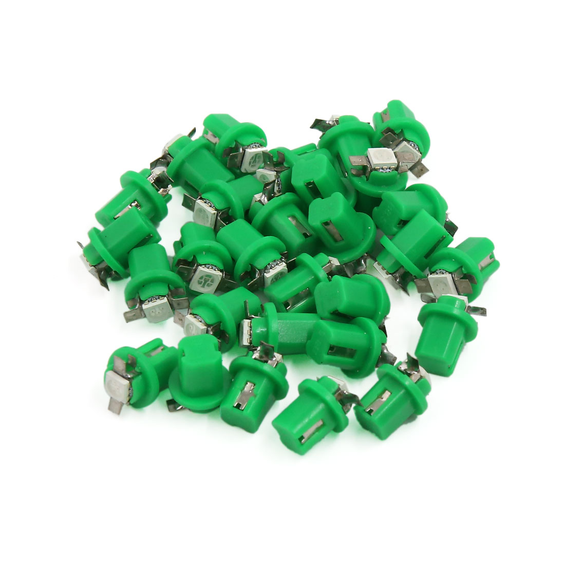 30pcs Green B8.5D 5050 SMD Car Interior Speedmeter Instrument Panel LED Light