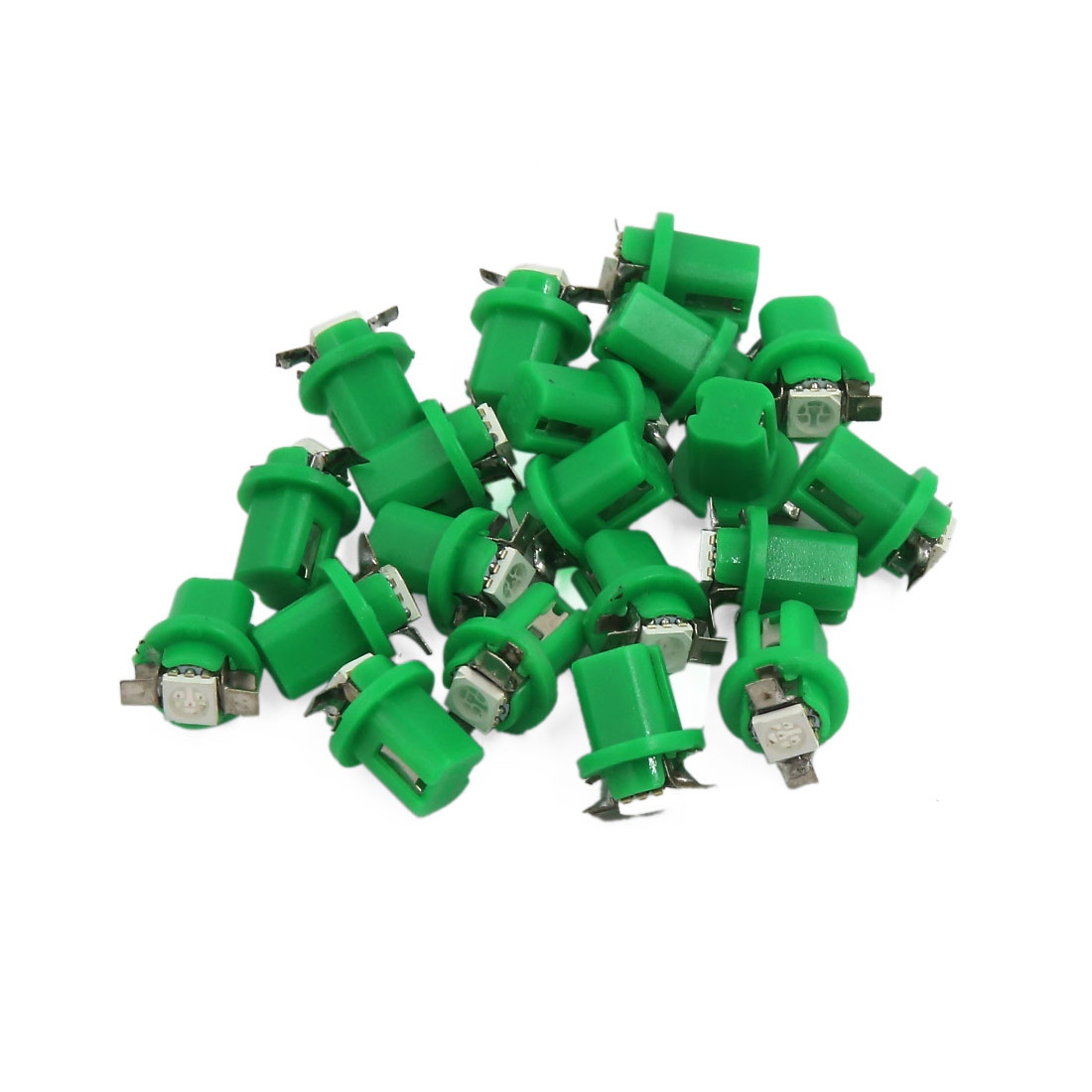 20pcs Green T5 B8.5D LED Bulbs Dashboard Cluster Gauge Side Lights 12V Interior