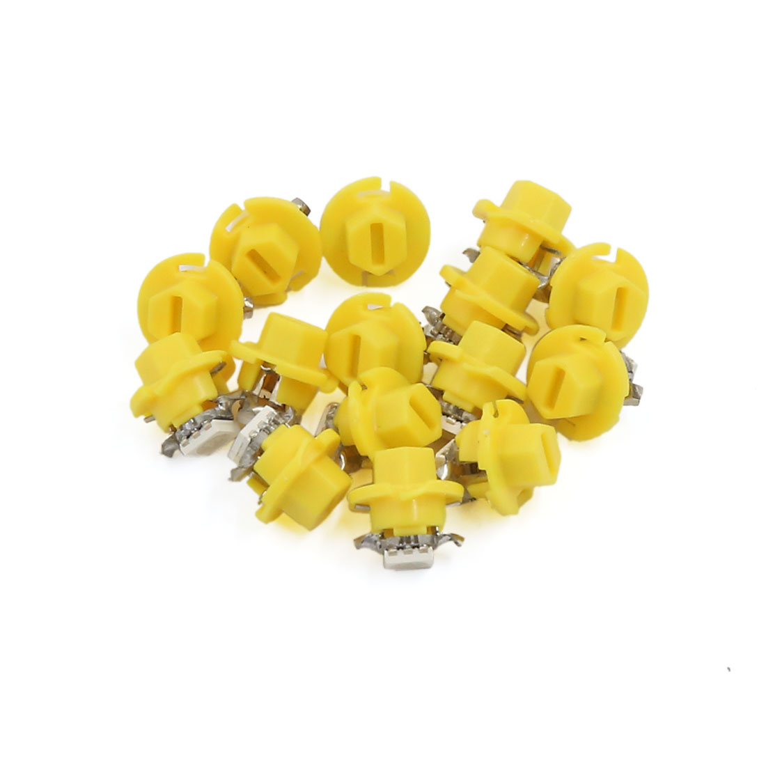 15pcs B8.4D Yellow Car Interior 5050 LED Dashboard Dash Wedge Side Light Bulb