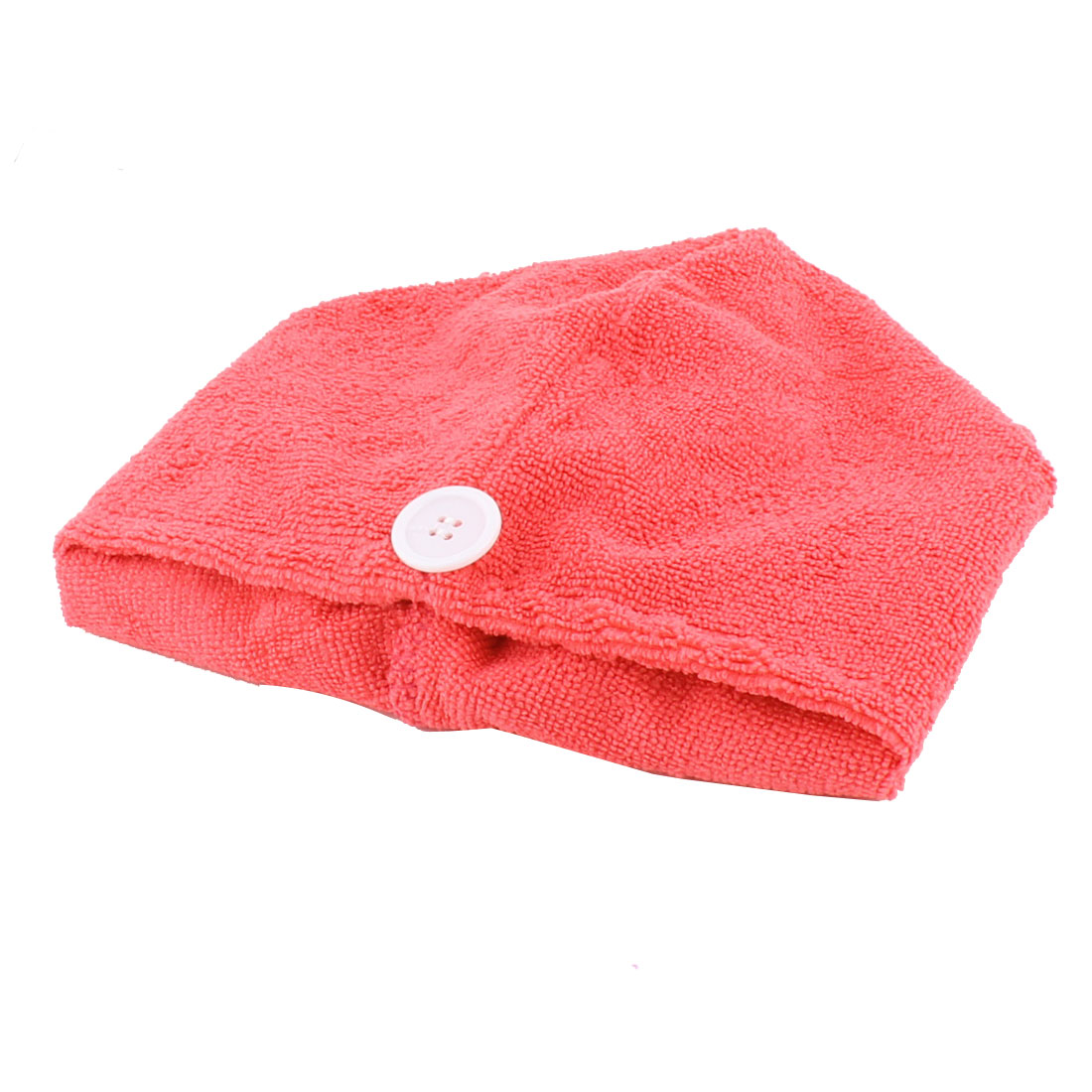 Lady Microfiber Triangle Shower Bathing Bath Hair Drying Dry Cap Hat Towel Watermelon Red