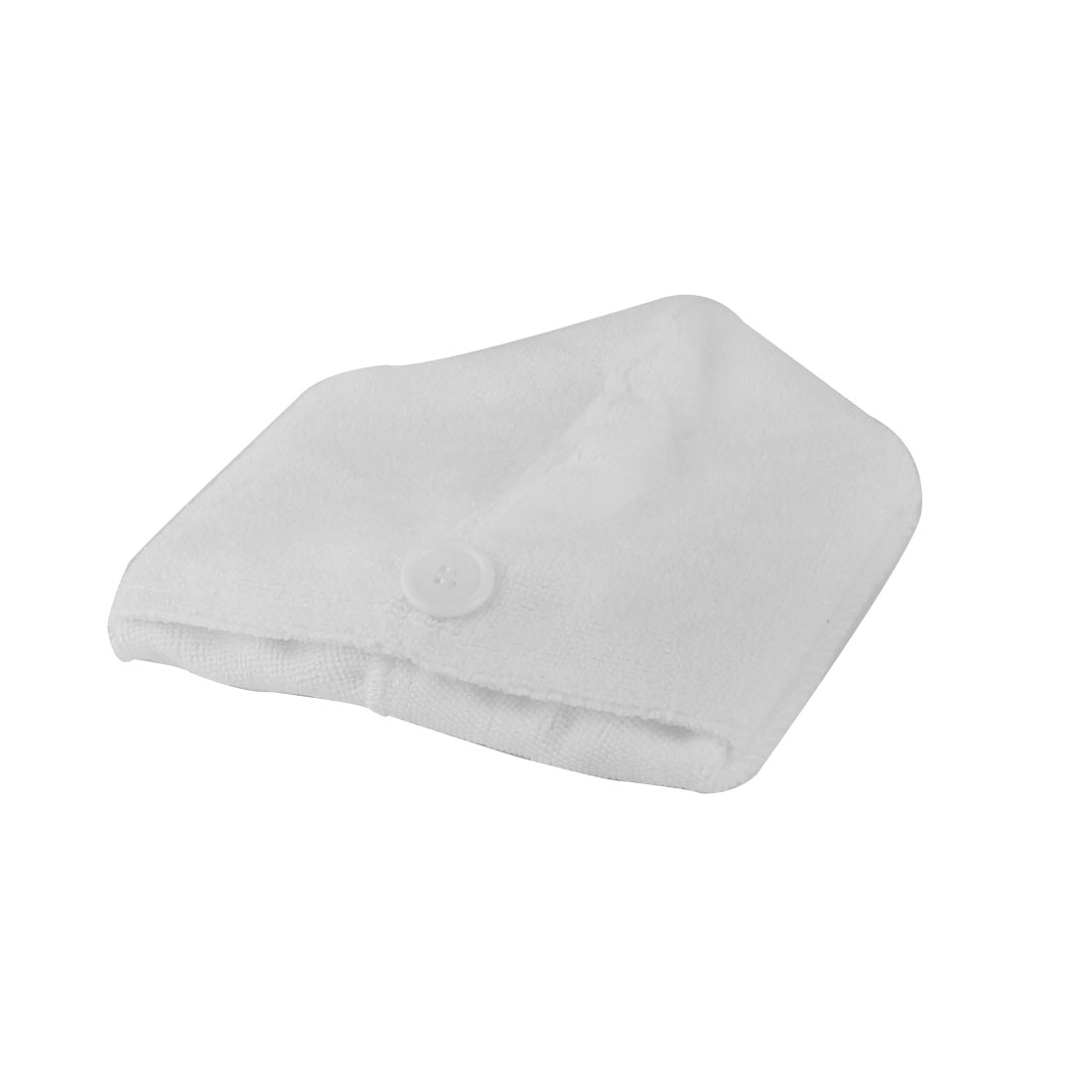 Lady Microfiber Triangle Shower Bathing Bath Hair Drying Dry Cap Hat Towel White