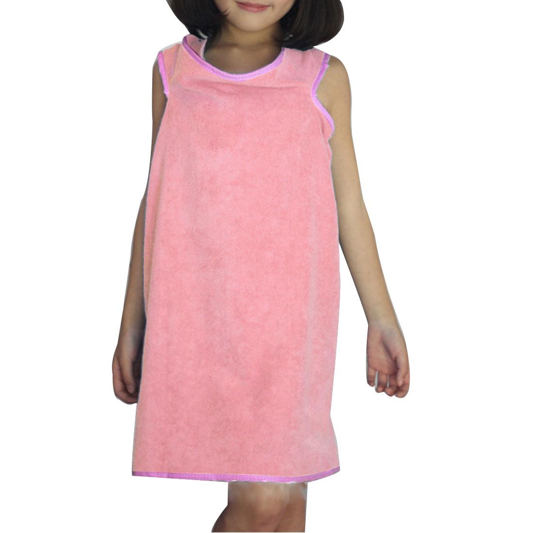 Girl Microfiber Spa Beach Swimming Shower Bath Towel Wrap Skirt Washcloth Pink