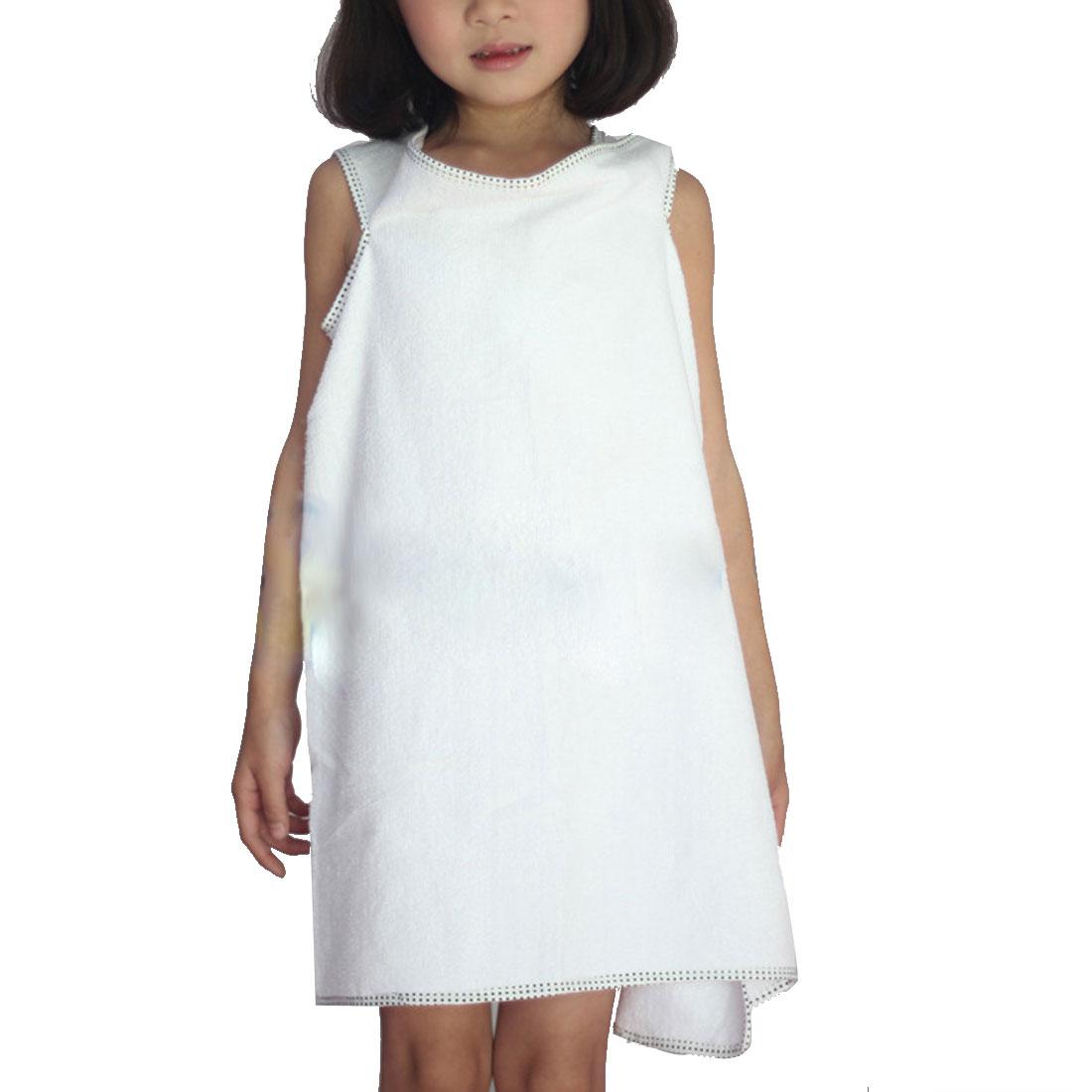 Girl Microfiber Spa Beach Swimming Shower Bath Towel Wrap Skirt Washcloth White