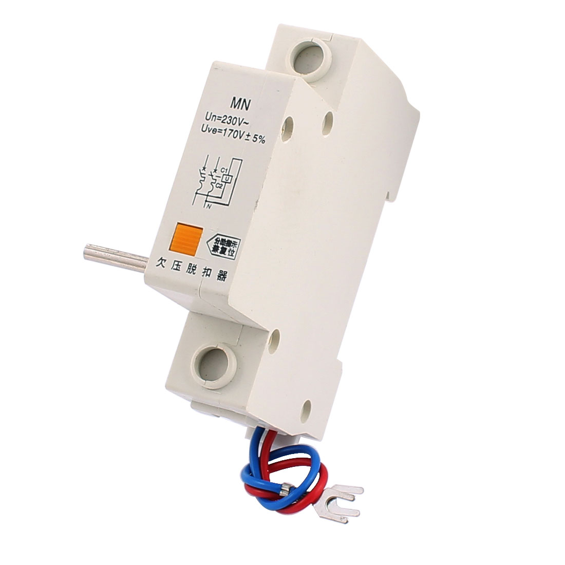 AC 220V MN Under Voltage Release Auxiliary Switch for DZ47/C45 Circuit Breaker