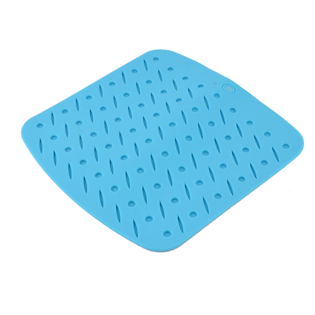 Silicone Square Shaped Heat Resistant Pot Pad Table Mat Placemat Coasters Blue