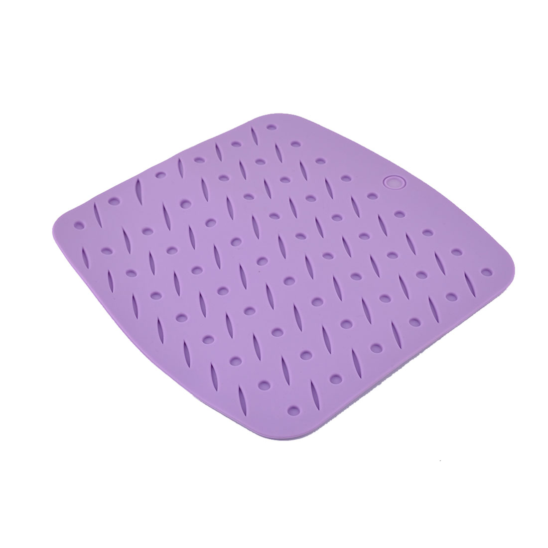 Silicone Square Shaped Heat Resistant Dining Table Mat Placemat Coasters Purple