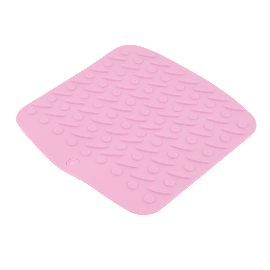 Silicone Rectangle Shaped Heat Insulation Pot Bowl Pad Table Mat Coasters Pink