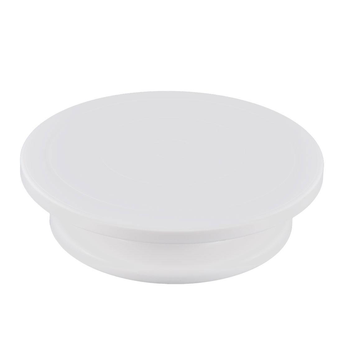 Plastic Revolving Dessert Decorating Display Stand Cake Turntable White