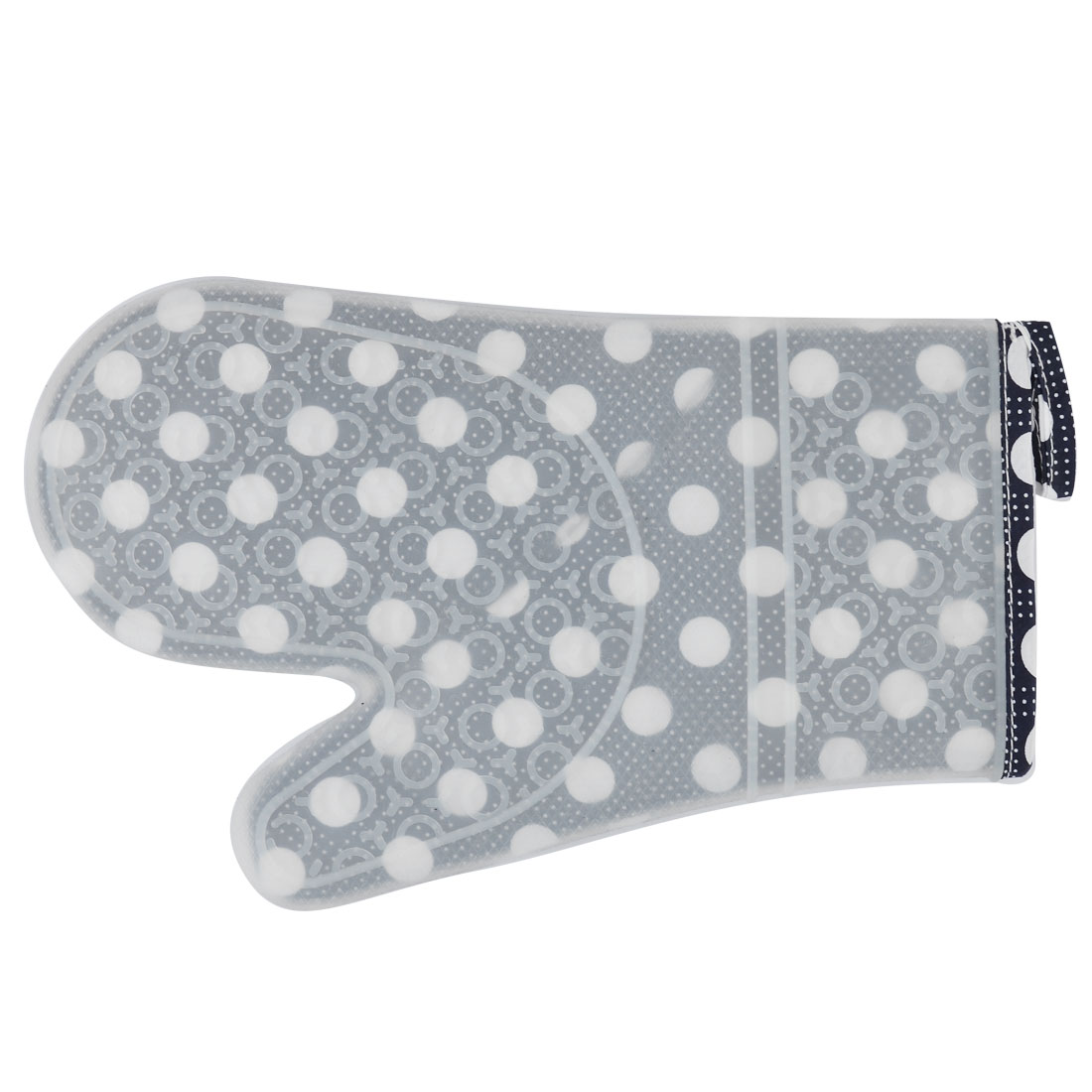Kitchen Utensils Silicone Dot Pattern Heat Resistant Oven Mitt Glove White Black