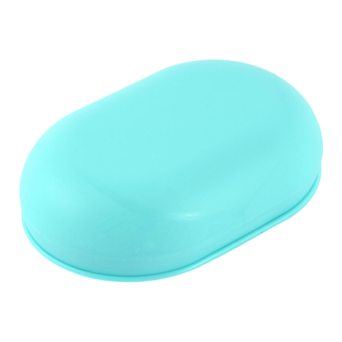 Household Bathroom Plastic Oval Shaped Soap Case Holder Container Box Sky Blue