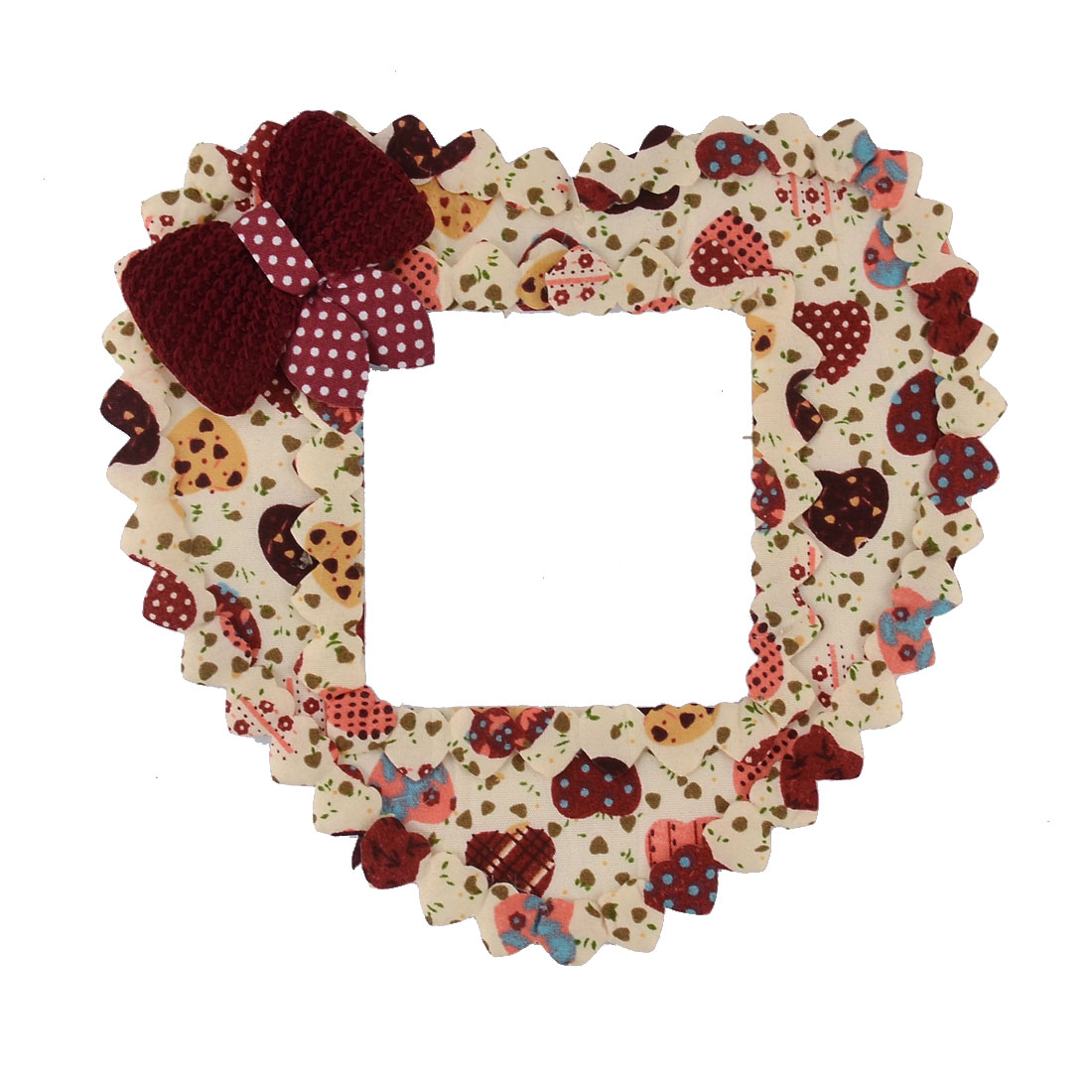 Cotton Bowknot Decor Heart Shape Bedroom Creative Wall Switch Sticker Beige