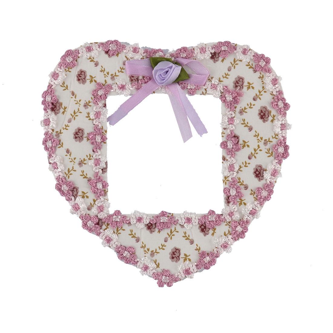 Cotton Flower Pattern Heart Shaped Bedroom Wall Switch Sticker White Purple
