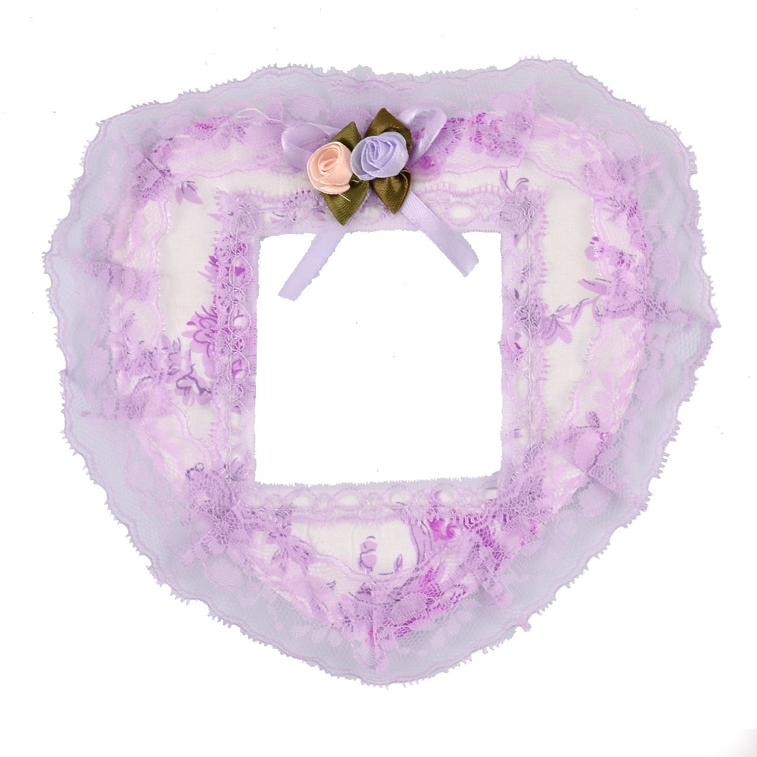 Lace Decor Edge Heart Shape Home Rural Style Wall Switch Sticker White Purple