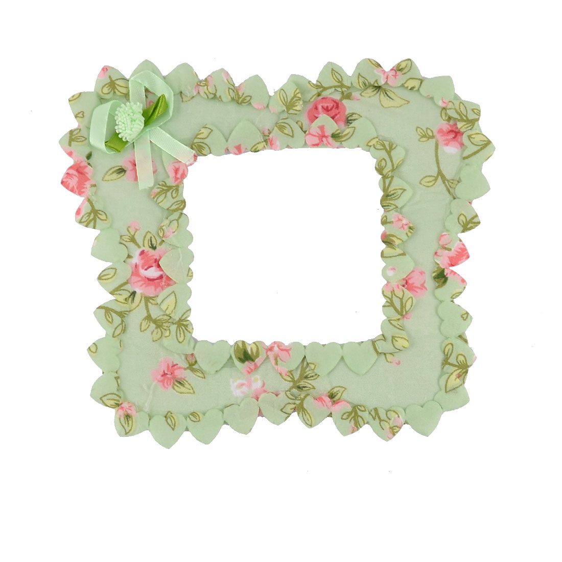 Cotton Flower Pattern Rustic Style Socket Covers Wall Switch Sticker Green Pink
