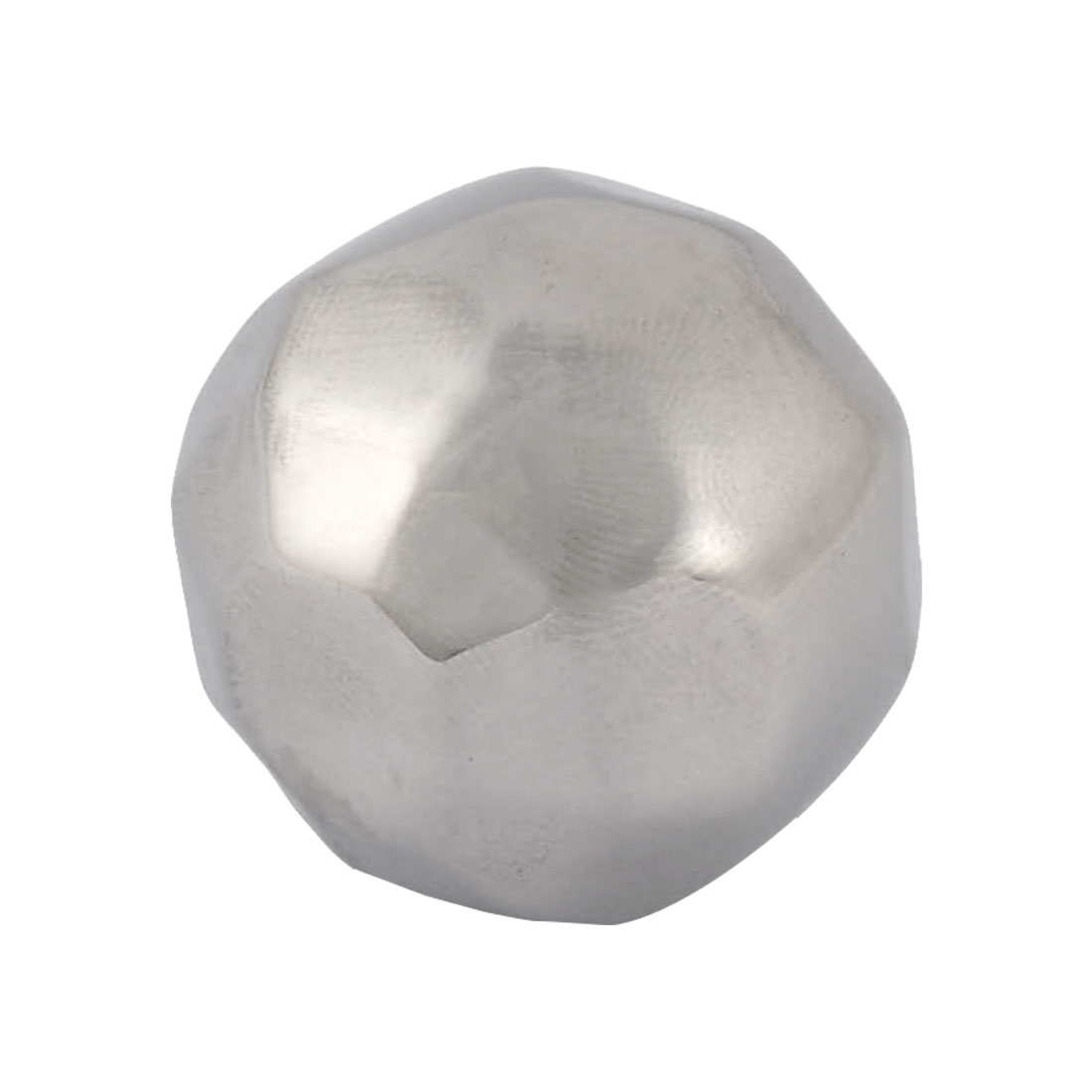 Home Stainless Steel Diamond Ball Shaped Soda Juice Ice Cube Silver Tone 3cm Diameter