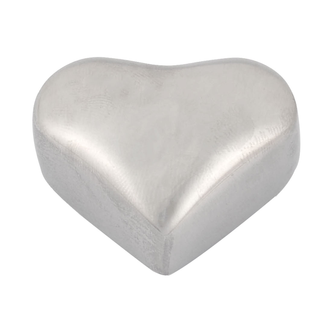 Home Stainless Steel Heart Shaped Soda Juice Physical Cooling Ice Cube Silver Tone