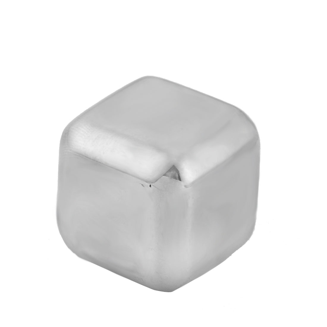 Home Stainless Steel Cubic Shaped Soda Juice Physical Cooling Ice Cube Silver Tone