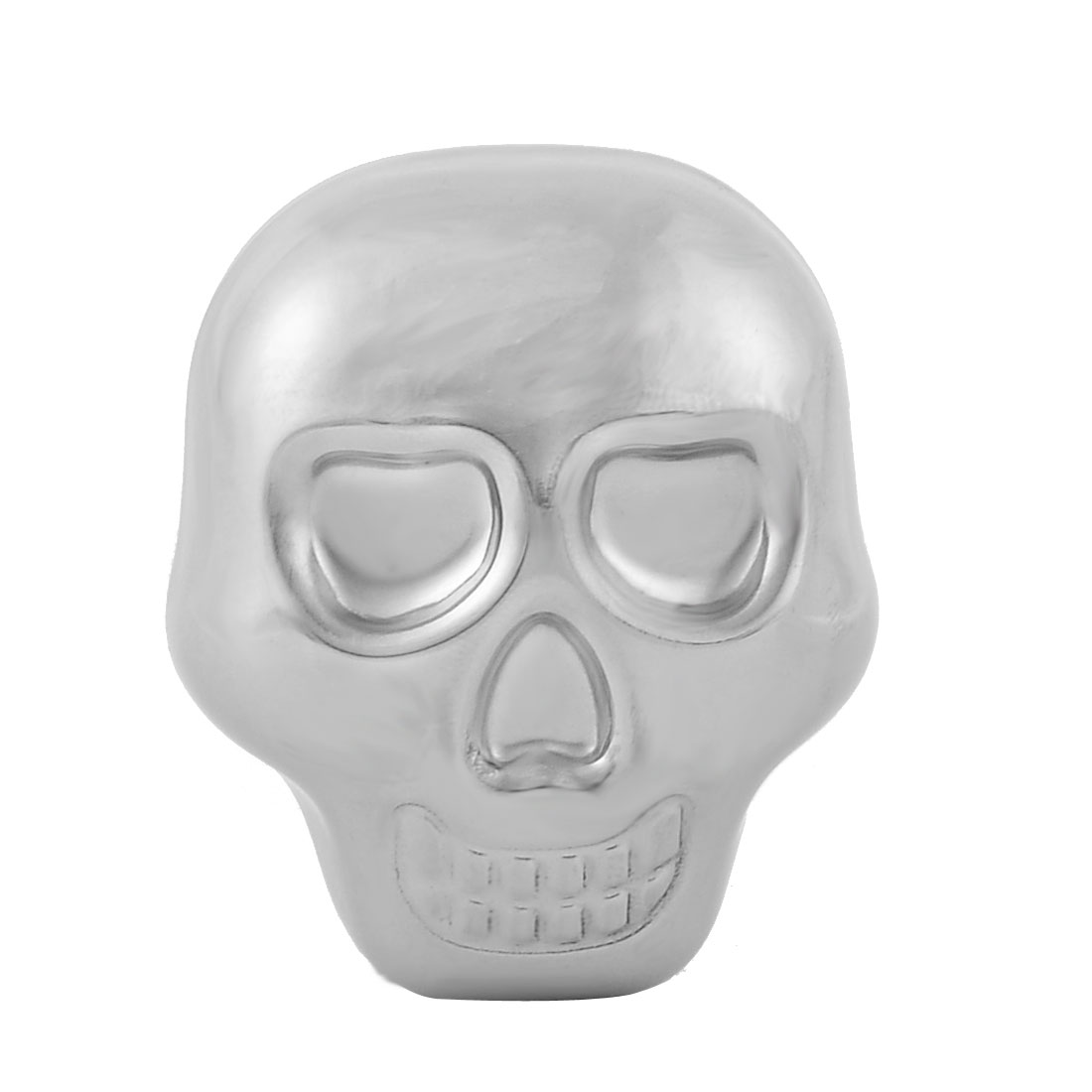 Household Stainless Steel Skull Shaped Soda Juice Whiskey Ice Cube Silver Tone