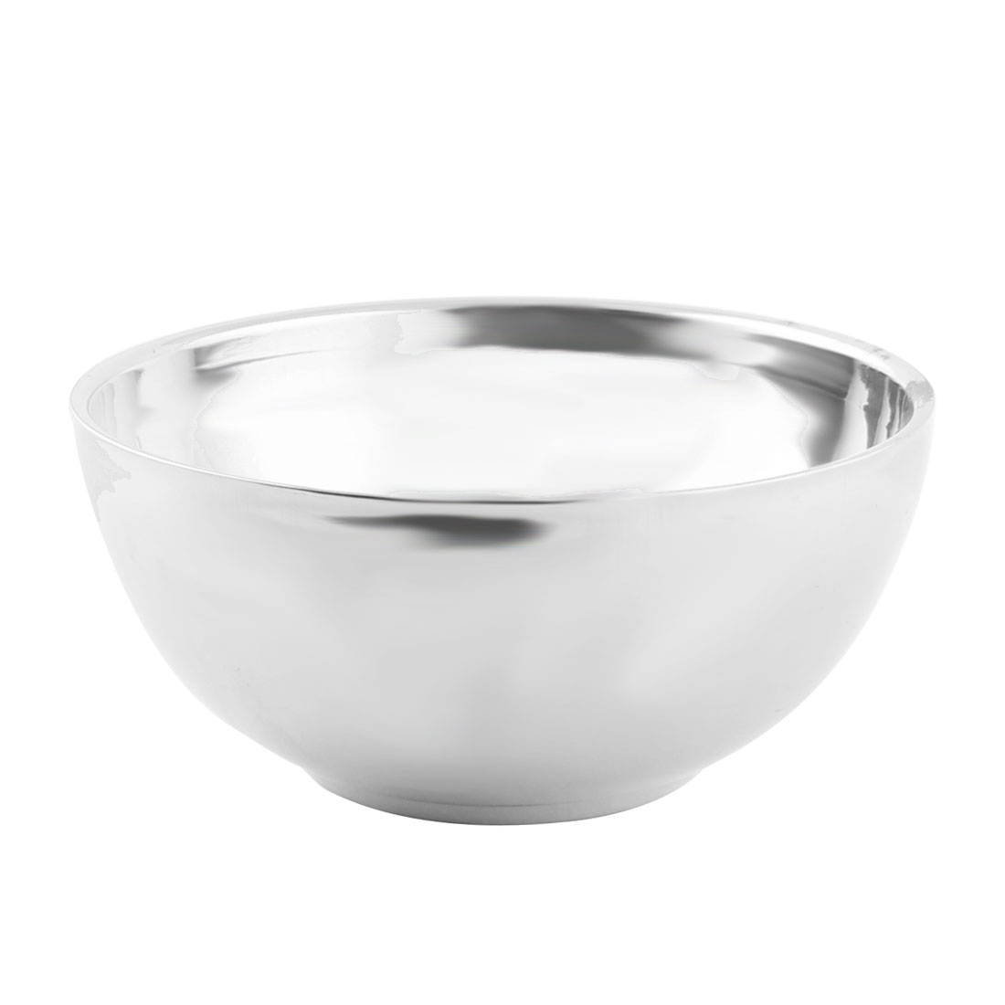 Home Kitchen Stainless Steel Tableware Hot Heat Resistant Dinner Soup Rice Bowl 11.5cm Dia