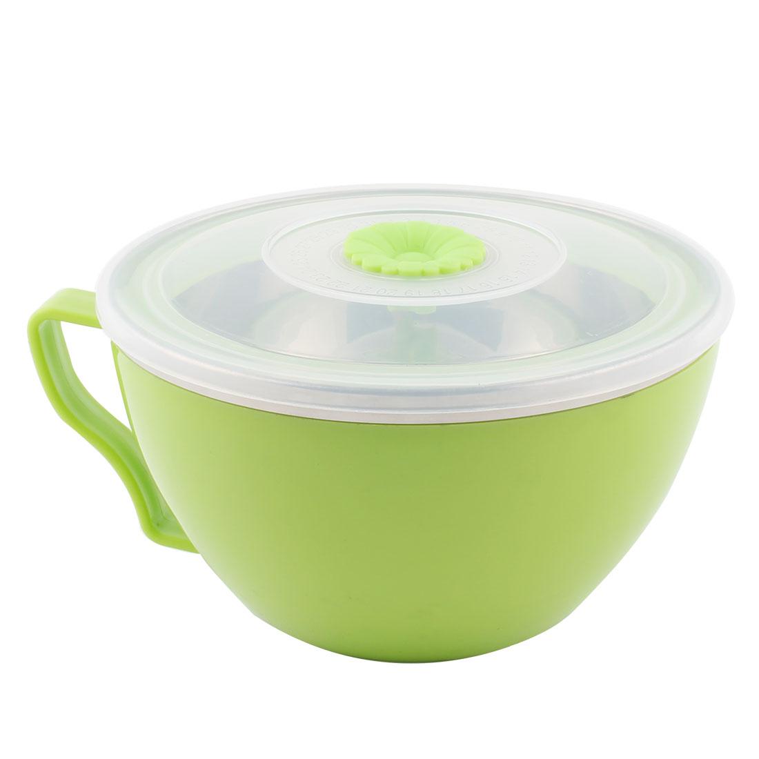 Kitchen Plastic Heat Resistant Instant Noodles Food Storage Fresh Sealed Bowl Green