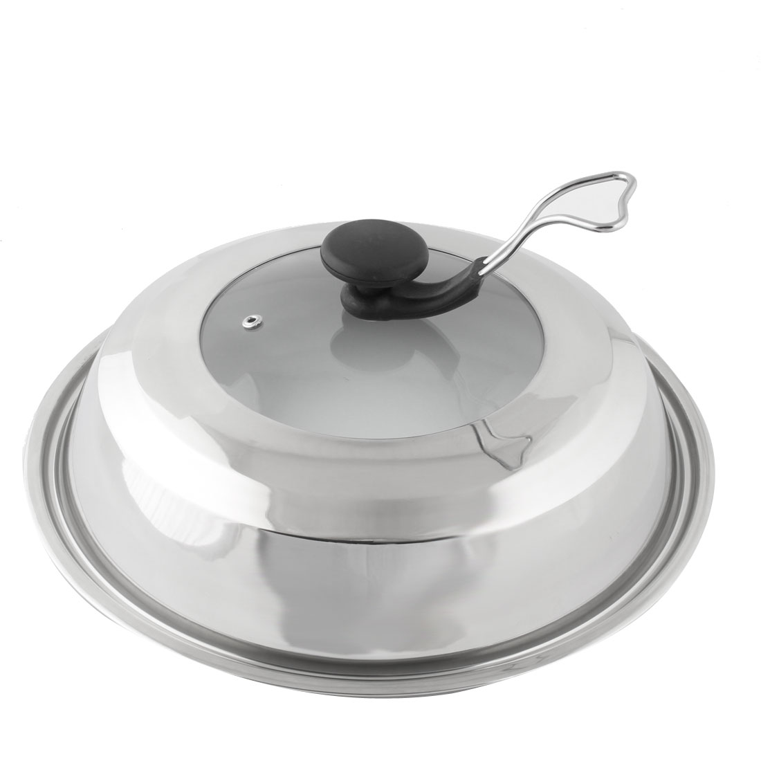 Restaurant Stainless Steel Cookware Cooker Pot Skillet Frying Pan Lid Cover 33cm Dia