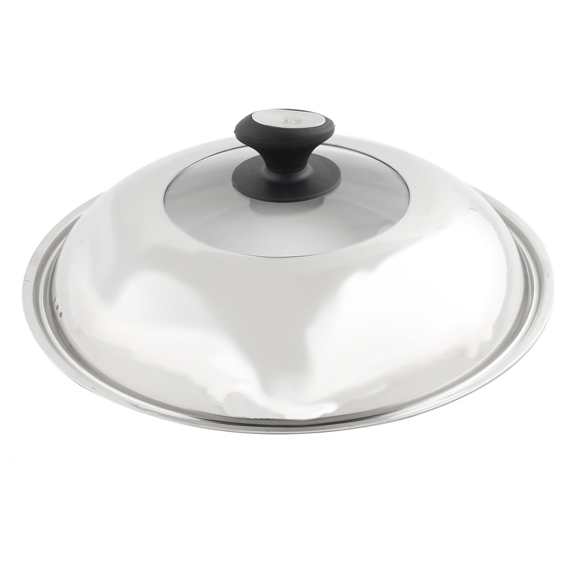Restaurant Stainless Steel Cookware Cooker Pot Skillet Frying Pan Knob Lid Cover 33cm Dia