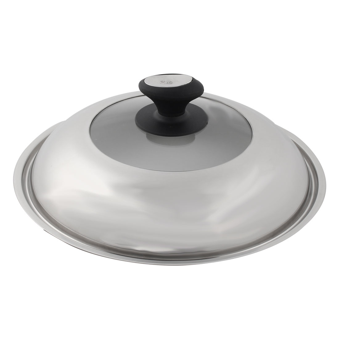 Kitchen Stainless Steel Cookware Cooker Boiler Pot Skillet Frying Pan Knob Lid Cover 34cm Dia