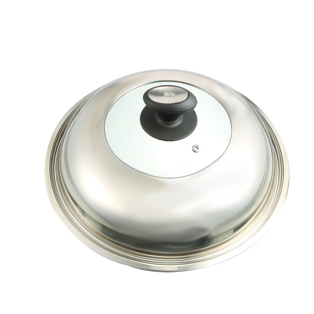 Kitchen Stainless Steel Cookware Cooker Pot Skillet Frying Pan Knob Lid Cover 33cm Dia