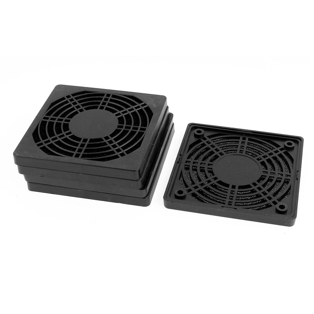 5pcs 115mm x 115mm Dustproof Case PC Computer Case Fan Dust Filter