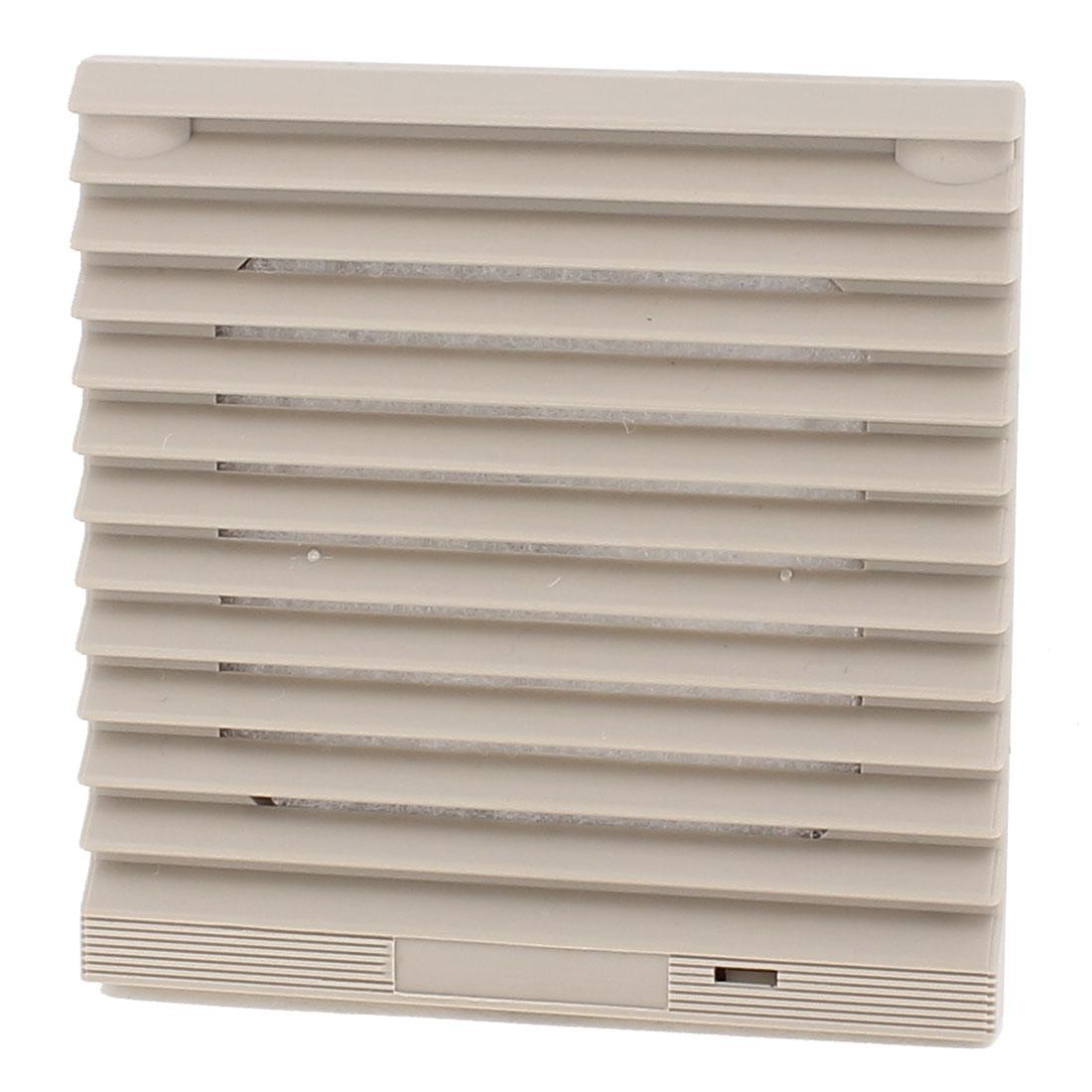 116mm x 116mm Gray Plastic Cabinet Washable Axial Flow Fan Foam Dust Filter