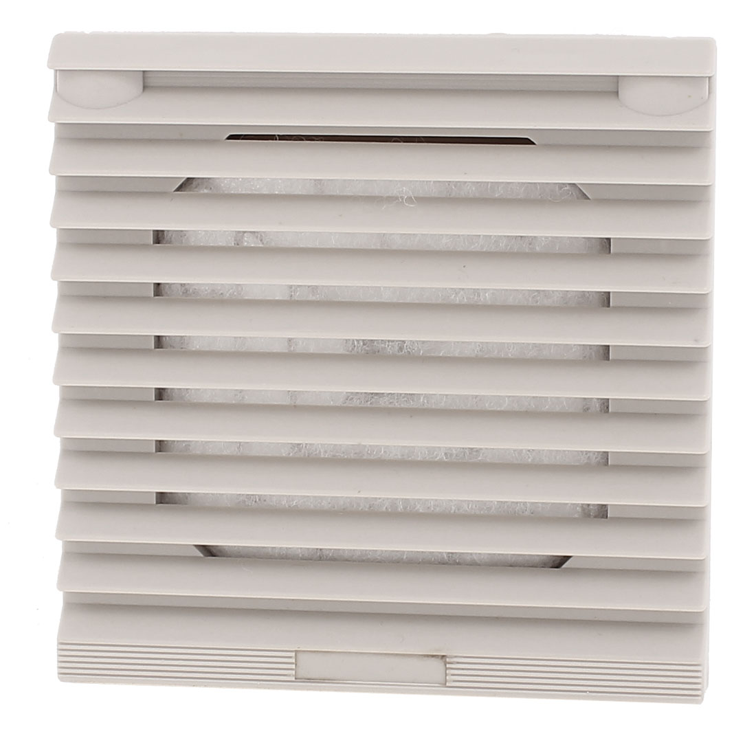 106mm x 106mm Gray Plastic Cabinet Washable Axial Flow Fan Foam Dust Filter