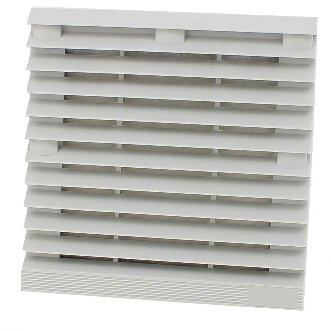 Gray 148.5mm x 148.5mm Plastic Cabinet Washable Axial Flow Fan Foam Dust Filter