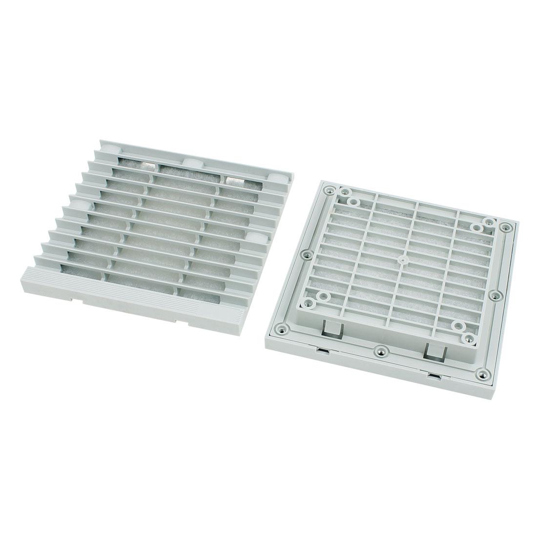 2pcs 148.5mm x 148.5mm Plastic Cabinet Washable Axial Flow Fan Foam Dust Filter