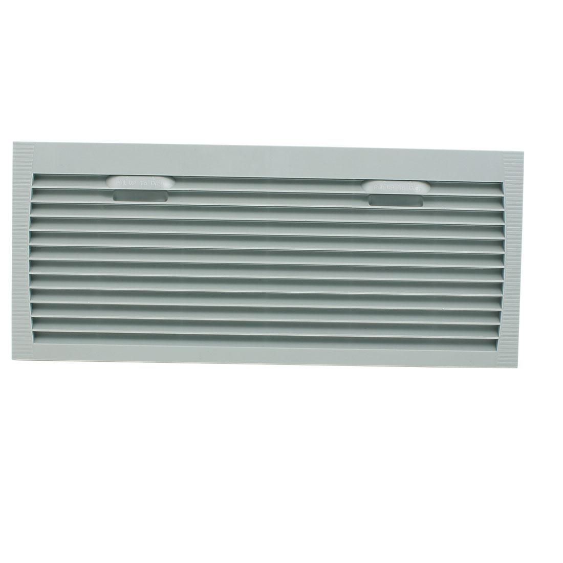 420mm x 180mm Gray Plastic Cabinet Washable Axial Flow Fan Foam Dust Filter