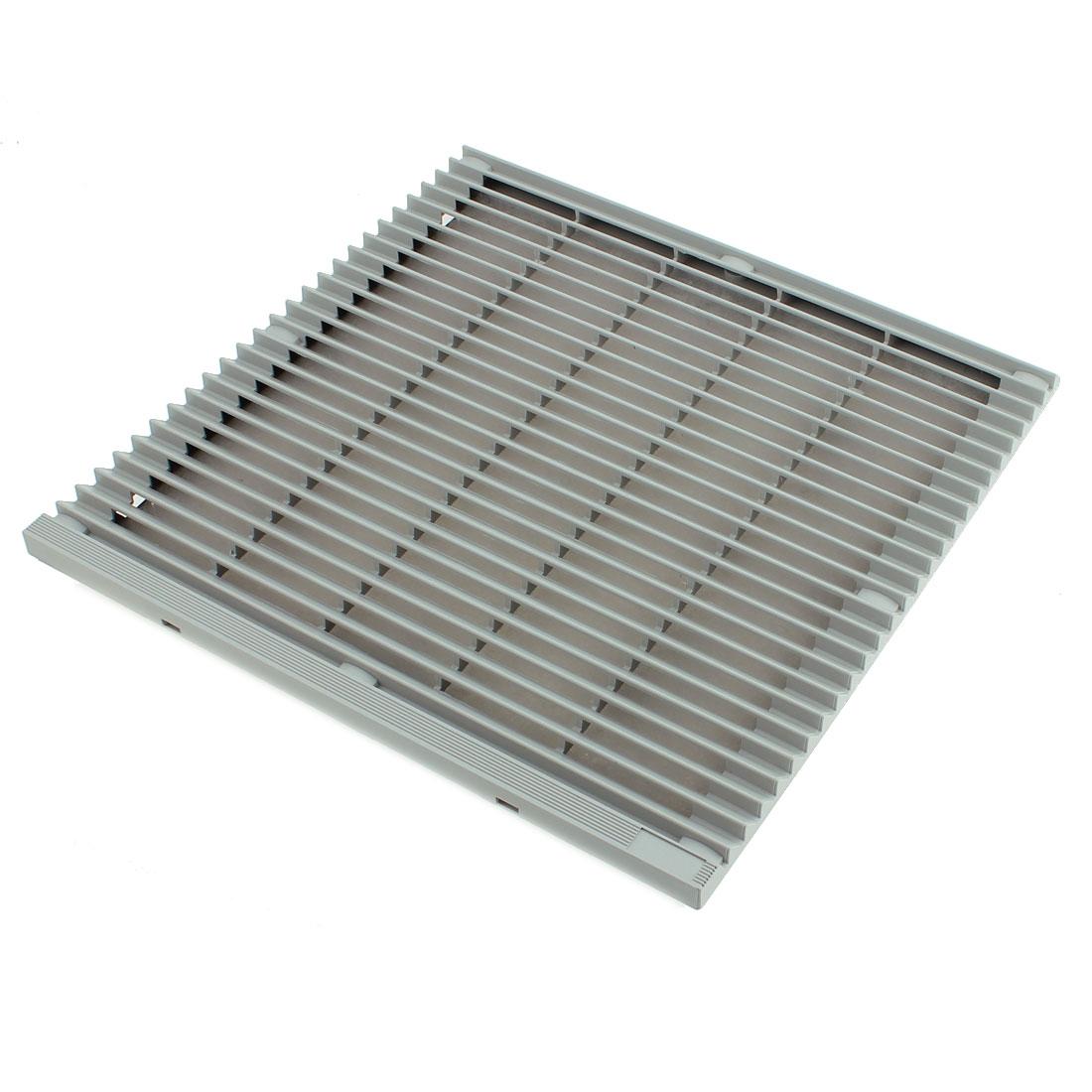 320mm x 320mm Plastic Cabinet Washable Axial Flow Fan Foam Dust Filter w seal ring