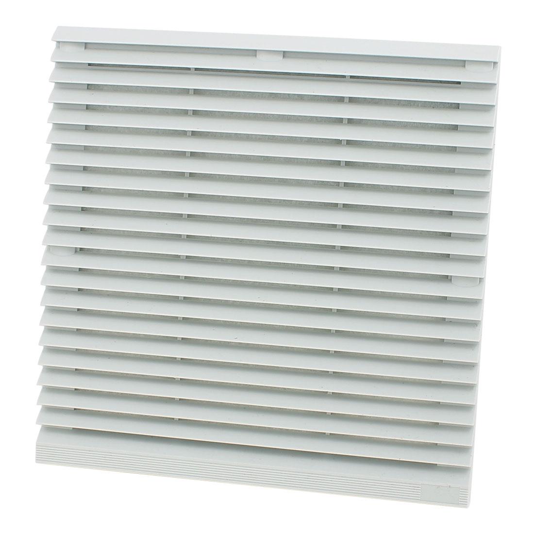 Gray 255mm x 255mm Plastic Cabinet Washable Axial Flow Fan Foam Dust Filter